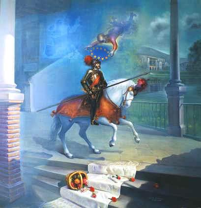 Carlos V cabalga de nuevo. Monasterio de Yuste,